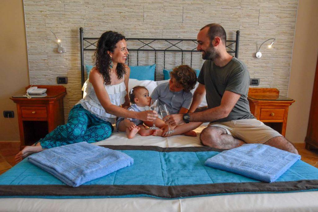 famiglia all'hotel trinacria