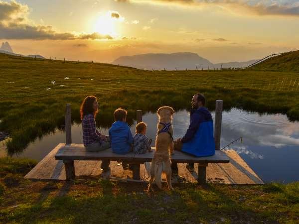 famiglia con il cane
